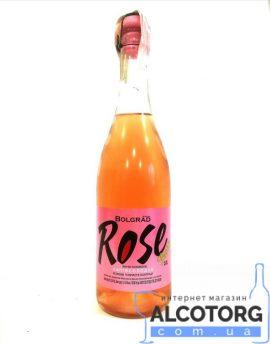 75 л. Вино игристое Болград Розе розовое полусладкое
