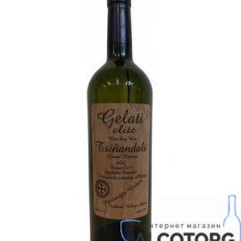 Вино Цинандалі Галеті Еліт 2014 біле сухе, Gelati Elit Tsinandali 2014 0,75 л.