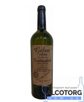 Вино Цинандалі Галеті Еліт 2014 біле сухе