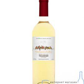 Вино Горобчики Трамінер біле напівсухе, Gorobchiki Traminer Cotnar 0,75 л.