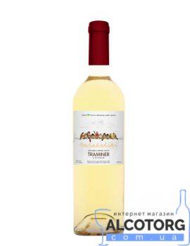 Вино Горобчики Траминер белое полусухое, Gorobchiki Traminer Cotnar 0,75 л.