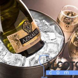 Вино ігристе Азнаурі напівсолодке біле, Aznauri Semi-Sweet White 0,75 л.