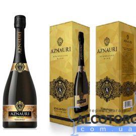Вино Ігристе Азнаурі Напівсолодке Біле в коробці