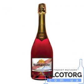 Шампанське Багратіоні червоне напівсолодке, Bagrationi Red Semi-sweet 0,75 л.