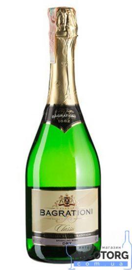Шампанское Багратиони белое сухое, Bagrationi Dry, 0,75 л.