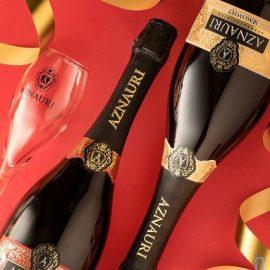Вино ігристе Азнаурі червоне напівсолодке, Aznauri Red 0,75 л.