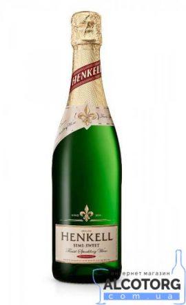 Вино Ігристе Хенкель Де Люкс біле напівсолодке, Henkell De Luxe 0,75 Л.