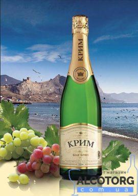 Вино ігристе Крим Брют біле, Krim White Brut 0,75 л.