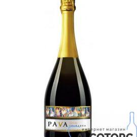 Вино ігристе Пава Грайлива Персик біле напівсолодке, Pava 0,75 л.