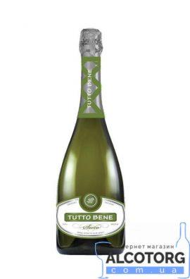 Вино ігристе Тутто Бене біле брют, Tutto Bene white brut 0,75 л.