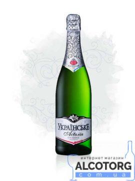 Вино ігристе Українське мускатне солодке біле 0