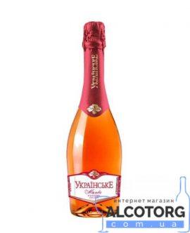 Вино ігристе Українське рожеве солодке 0