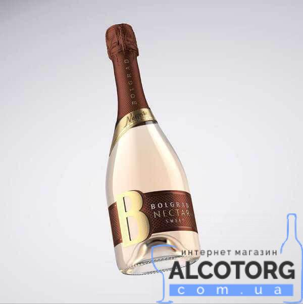 Шампанське Болград Нектар біле солодке, Bolgrad Nectar 0,75 л.
