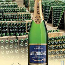 Вино ігристе Артемівське Біле брют, Artemovskoye White Brut 0,75 л.