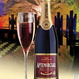 Вино ігристе Артемівське червоне напівсолодке, Artemovskoye Red semi-sweet 0,75 л.