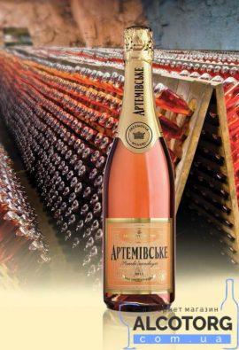 Вино ігристе Артемівське рожеве напівсухе