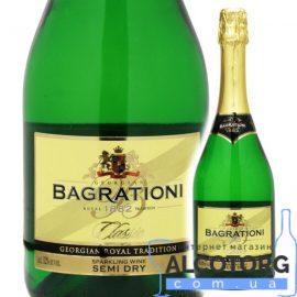 Шампанське Багратіоні біле напівсухе, Bagrationi Semi Dry 0,75 л.