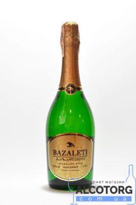 Вино ігристе Базалеті біле напівсолодке, Bazaleti semi sweet 0,75 л.