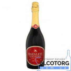 Вино ігристе Базалеті червоне напівсолодке