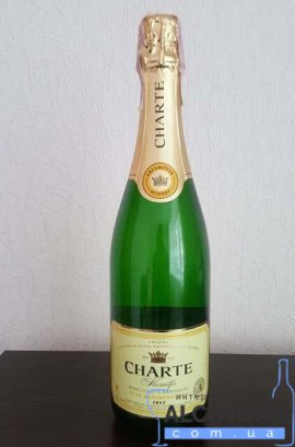 Вино ігристе Шарте біле напівсолодке, Charte White Semi-Sweet 0,75 л.