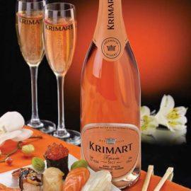 Вино ігристе Крімарт Розе брют тубус, Krimart Rose Brut 0,75 л.