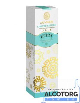 Вино ігристе Крим 3 роки сувенірна упаковка біле напівсолодке, Krim White semi sweet 0,75 л.