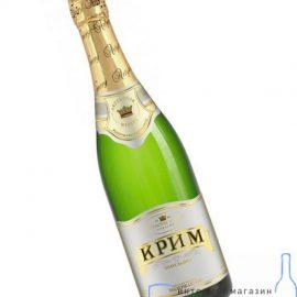 Вино ігристе Крим Біле напівсолодке, Krim White Semi Sweet 0,75 л.