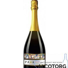 Вино Ігристе Пава Грайлива Полуниця Червоне Напівсолодке, Pava 0,75 Л.