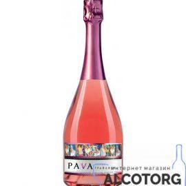 Вино Ігристе Пава Грайлива Суниця Рожеве Напівсолодке, Pava 0,75 Л.