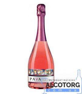 Вино Ігристе Пава Грайлива Суниця Рожеве Напівсолодке