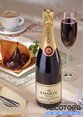 Вино ігристе Шарте червоне напівсолодке, Charte Red Semi-Sweet 0,75 л.