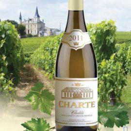 Вино Шарте Шаблі біле сухе, Charte Chablis white dry 0,75 л.