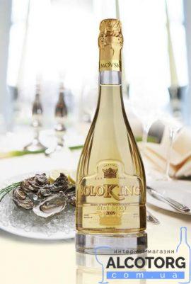 Вино ігристе Солокінг Брют біле в коробці, Soloking Brut 0,75 л.