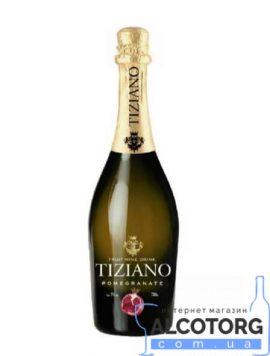 Ігристий Винний Напій Тіціано Гранат Червоне Напівсолодке, Tiziano Sparkling Pomegranate 0,75 Л.