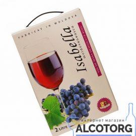Вино Ізабелла Аліанта червоне напівсолодке, Alianta Vin Isabella bag-in-box 2 літра.