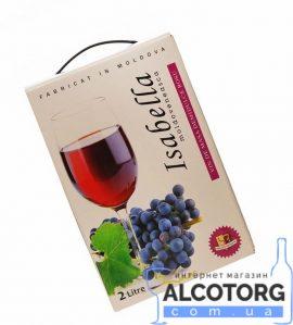Вино Ізабелла Аліанца червоне напівсолодке, Alianta Vin Isabella bag-in-box 2 л.