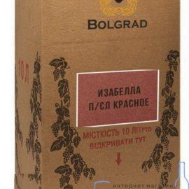 Вино Ізабелла напівсолодке червоне Болград 10 літрів.