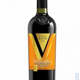 Вино Мускат Бербарро Вілла Крим червоне напівсолодке, Muscat Berbarro Villa Krim 0,75 л.