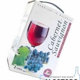 Вино Каберне Совіньйон Аліанта червоне напівсолодке, Alianta Vin Cabernet Sauvignon bag-in-box 2 літри.