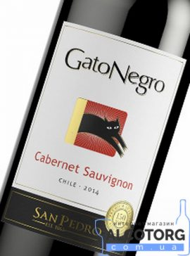 Вино Каберне Совіньон Гато Негро червоне сухе, Cabernet Sauvignon Gato Negro 0,75 л.