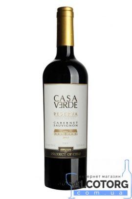 Вино Каберне Совіньон Резерв Каса Верде червоне сухе, Cabernet Sauvignon Reserva Casa Verder 0,75 л.