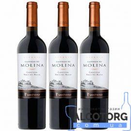 75 л. Вино Карменер Резерва Кастильо де Молина красное сухое
