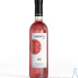 Вино Картавал Розе рожеве сухе, Cartaval Rose 0,75 л.