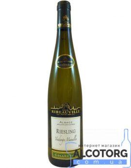 Вино Кав де Рибовіль Рислінг Гевюрцтрамінер біле напівсухе, Cave de Ribeauville Riesling 0,75 л.