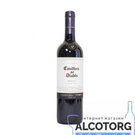 Вино Казільеро дель Дьябло Мерло червоне сухе, Casillero del Diablo Merlot 0,75 л.