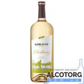 Вино Коблево Бордо Шардоне Сухе Біле, Koblevo Chardonnay 1,5 л.