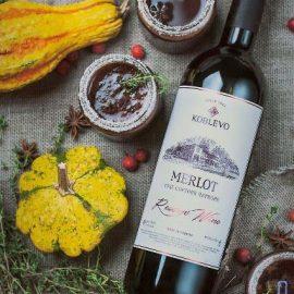 Вино Коблево Резерв Мерло сухе червоне, Koblevo Reserve Merlot 0,75 л.