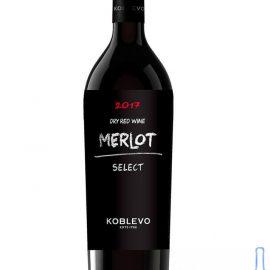 Вино Коблево Селект Мерло сухе червоне, Merlot Koblevo Select 0,75 л.