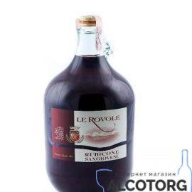Вино Лє Роволє Санджьовезе Рубікон IGT сухе червоне, Le Rovole Sangiovese Rubicone IGT 5 л.