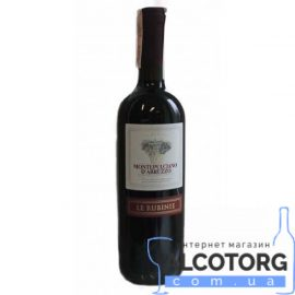 Вино Лє Рубіне Монтепульчано дАбруццо DOC сухе червоне, Le Rubinie Montepulciano D'Abruzzo DOC 0,75 л.
